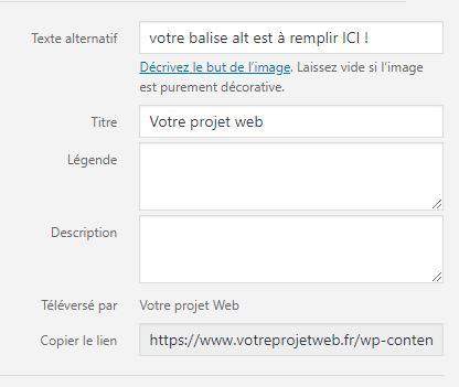 balise alt wordpress votre projet web